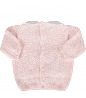 Pink babygirl suit with ruffle