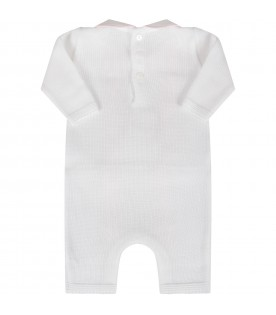 White babygirl babygrow with ruffles