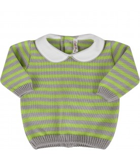 Grey and neon green babykids suit