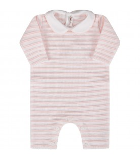 White and pink babygirl babygrow