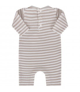 White and beige babykids babygrow