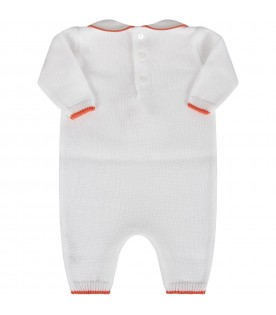 White babykids babygrow with iconic bear