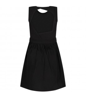 Black girl dress with black iconic moth