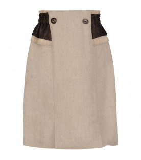 Beige girl skirt