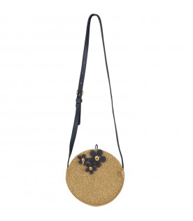 Gold girl bag with flowers