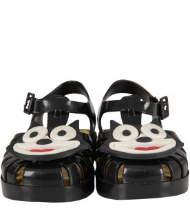 Black boy sandals with Felix