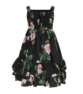 Black girl dress with iconic roses