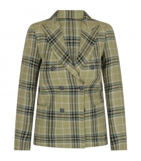 Green boy jacket with checks