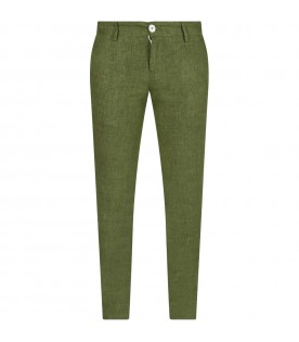 Green boy pants
