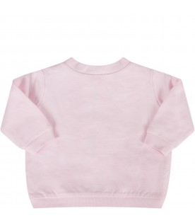 Pink babygirl sweatshirt with iconic tiger and hearts
