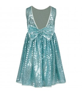Light blue girl dress with sequins