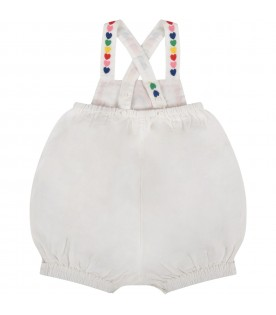 White babygirl rompers with colorful hearts