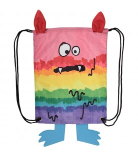 Multicolor kids bag with monster