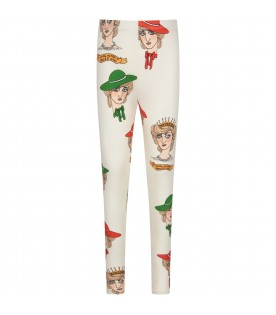 Ivory girl leggings with princess Diana