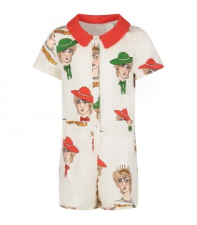 Ivory girl summersuit with princess Diana
