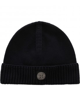 Blue boy hat with iconic patch