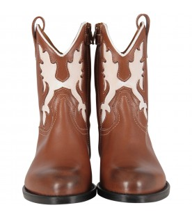 Brown kids texan boot