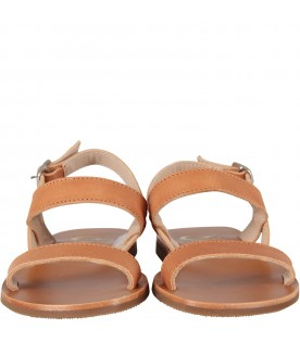 Brown sandals for girl