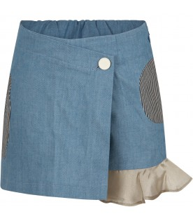 Gonna short ''Aomi'' denim per bambina