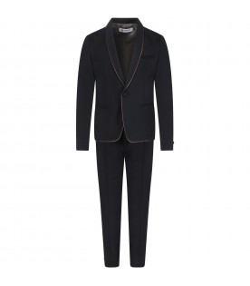 Blue suit for boy with iconic D