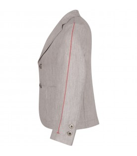 Grey boy jacket with iconic D