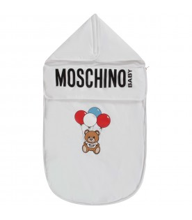 White babykids sleeping bag with Teddy Bear