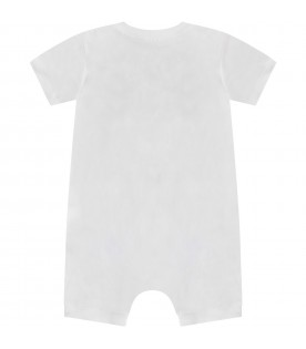 White abbykids rompers with logo and Teddy bears