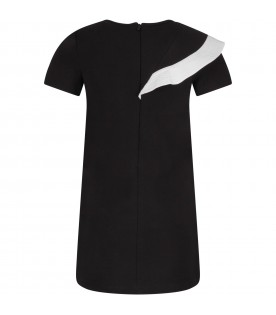 Black girl dress with logo