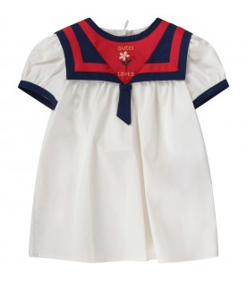 Ivory babygirl dress with flower