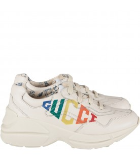 Ivory girl chuncky sneaker with logo