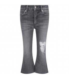 Grey ''Amanda'' jeans for girl with iconic D