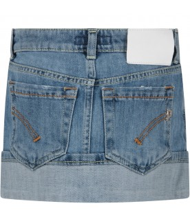 Denim ''Dana'' girl skirt with iconic D