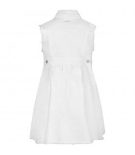 White ''Michone'' girl dress with iconic D