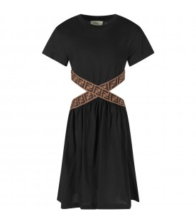 Black girl dress with double FF