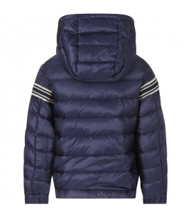 Blue boy jacket with logo