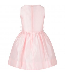 Pink girl dress with iconic logo