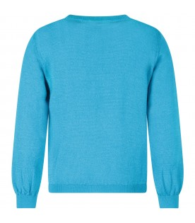 Azure girl sweater with colorful logos