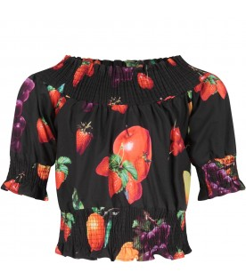 Black girl top with fruits