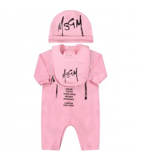 Pink babygirl set with logo