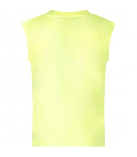 Yellow top with logo for boy