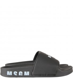 Black kids slides with logo