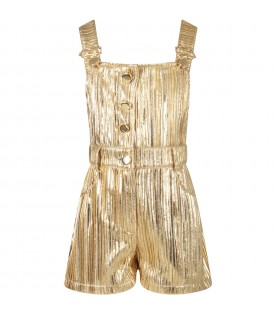 Gold girl overall