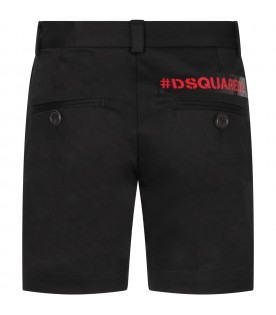 Black boy short with red logo