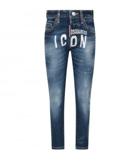 Denim ''Dan icon'' boy jeans with logo