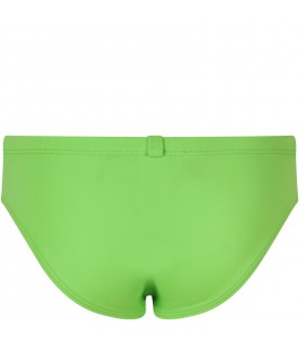 Green boy swimsuit with double logo