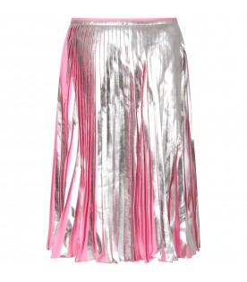 Pink and silver girl skirt