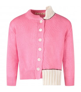Pink cardigan for girl