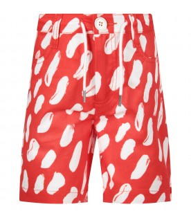 Red girl short with white spots