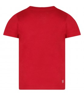 Red boy T-shirt with crocodile