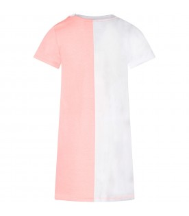 White and pink girl dress with iconic tiger